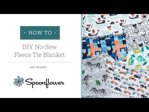 445022e0b8 The Only No-Sew Fleece Blanket Tutorial You ll Need