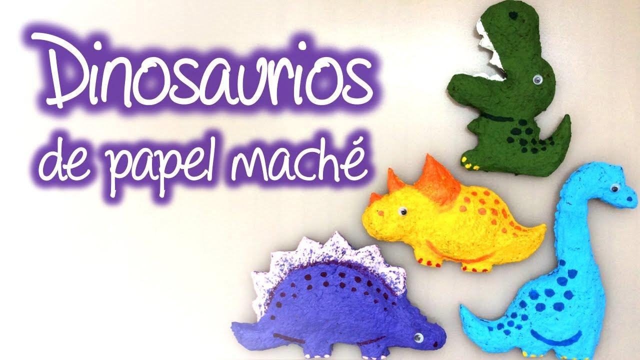 Dinosaurios De Papel Mache Paper Mache Dinosaurs Youtube