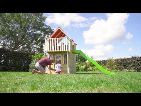 TP Toys Padstow, Two Storey Wooden Playhouse & Slide