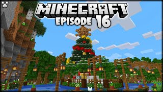 FINISHING Our Minecraft CHRISTMAS ISLAND! | Python Plays Minecraft Survival [Episode 16]