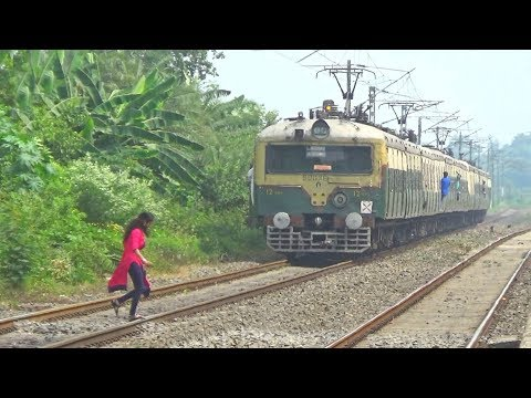 Short Route EMU Train || Katwa-Bandel Local Skipping Balagarh Railway Station