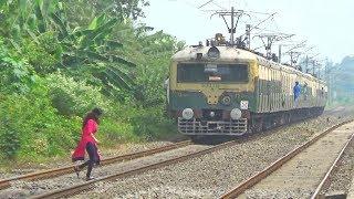 Short Route EMU Train || Katwa-Bandel Local Skipping Balagarh Railway Station