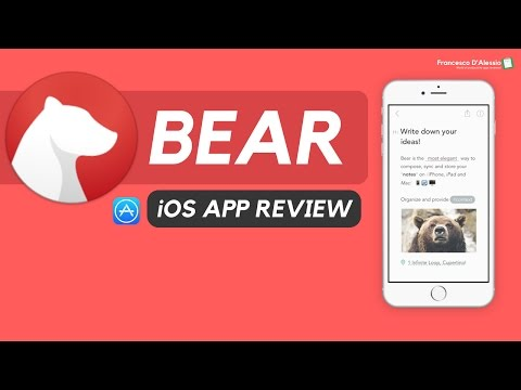 Bear Note-taking: an iOS App Review: 🐻