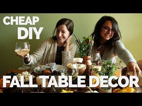 Cheap DIY Fall Table Decor | Two Market Girls