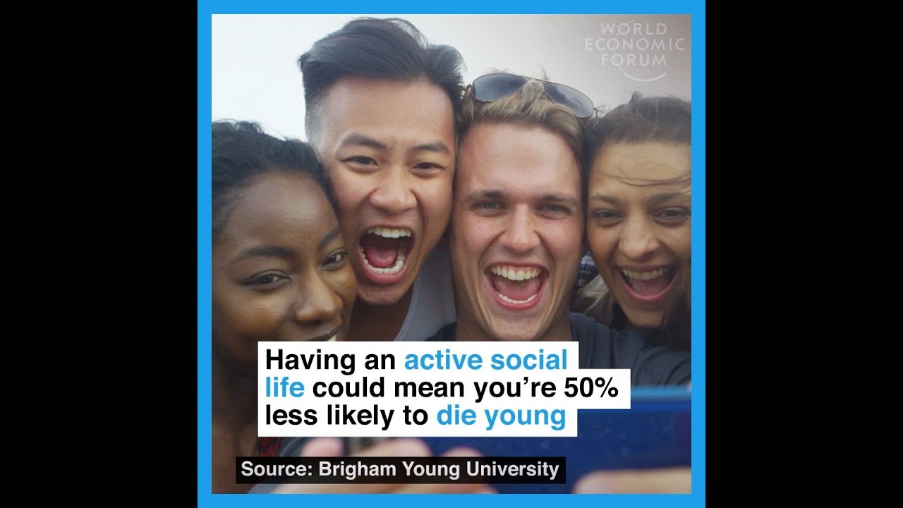 Having an active social life could mean you're 50% less likely to die young