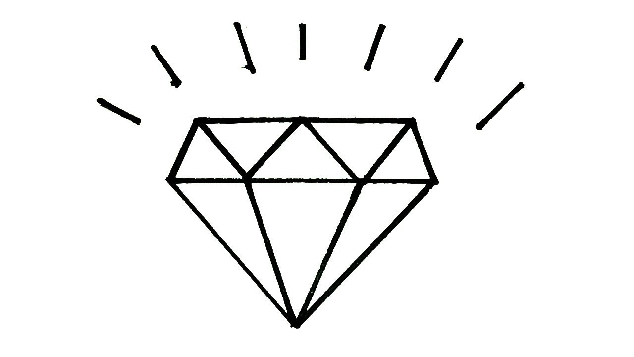 b4d0ec3f56215 How to draw a diamond | Easy step by Step Drawing for kids