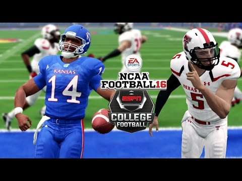 NCAA Football 16 | The Insane Finish! | Texas Tech At Kansas | Bring Back NCAA Games Now!!!