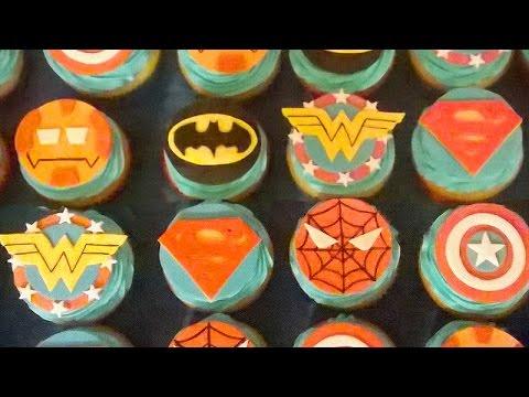 How To Make Superhero Cupcake Topper Youtube