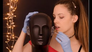ASMR Ear Cleaning To Give 100% Tingles With Latex Gloves - [Inaudible Whispering]
