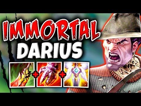 IMMORTAL DARIUS BUILD! THE UNKILLABLE DARIUS BUILD THAT CRUSHES SOLO QUEUE! - League Of Legends