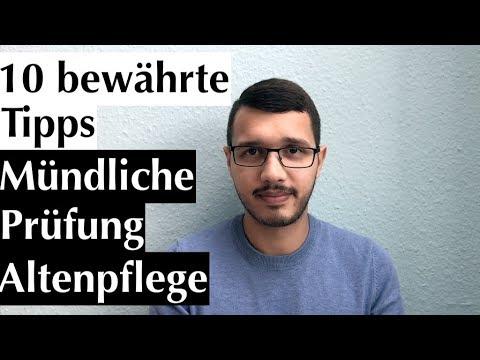 Mündliche Prüfung Altenpflege:
