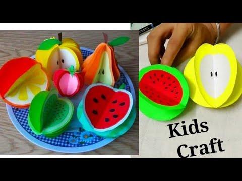 DIY Kids Craft Idea| Easy Kids Craft| DIY Paper Fruits| Easy Paper Craft| #tulikajagga