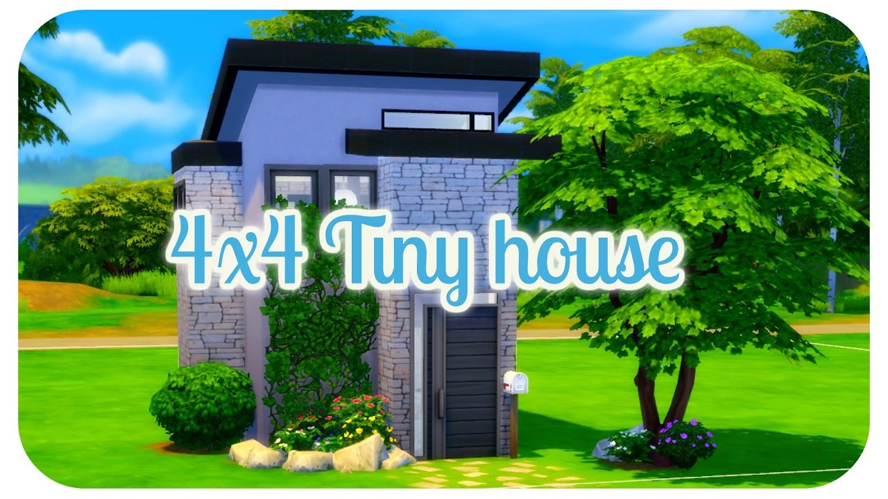 The Sims 4 4x4 Build Challenge Tiny Minimalist House Speed Build