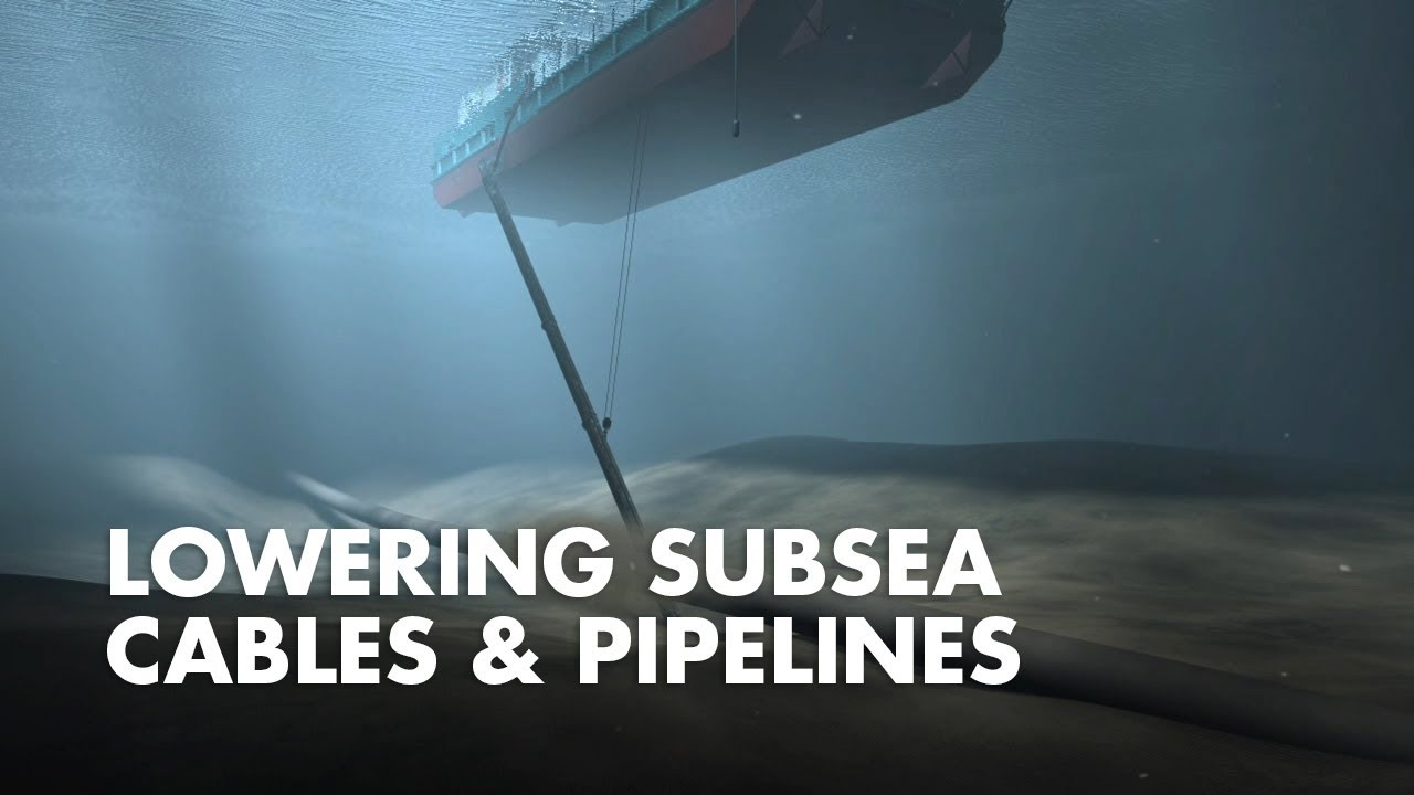 Lowering Subsea Cables And Pipelines Youtube