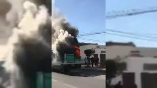 عاجل ????????!! احتراق الحافلة الفرنسية في تونس صباح اليوم  5 مارس2019????????