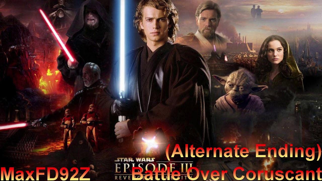 Star Wars Revenge Of The Sith The Complete Score Battle Over Coruscant Alternate Ending Youtube