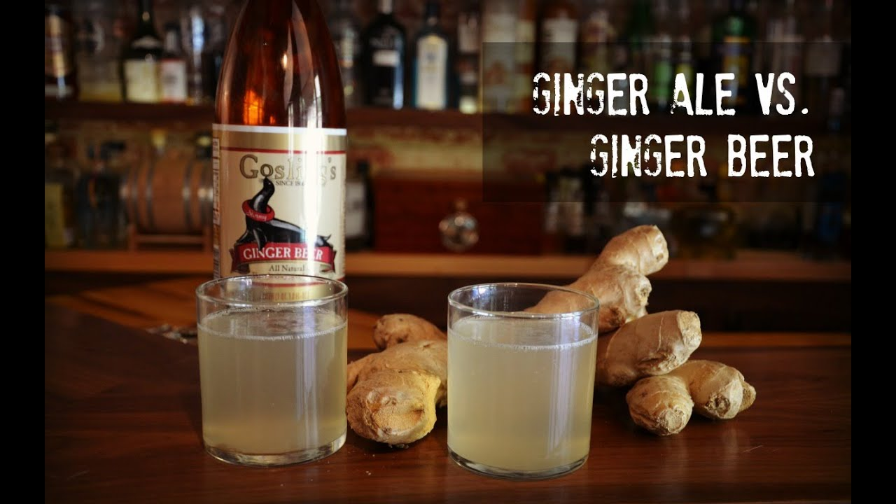 Ginger beer vs ginger ale