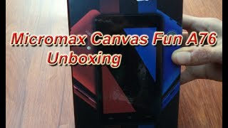 Micromax Canvas Fun A76 Unboxing [HD]