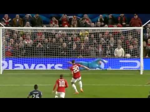 Manchester United vs Olympiakos 3-0 (Robin van Persie Hat-trick) UEFA C.L. 19.03.2014