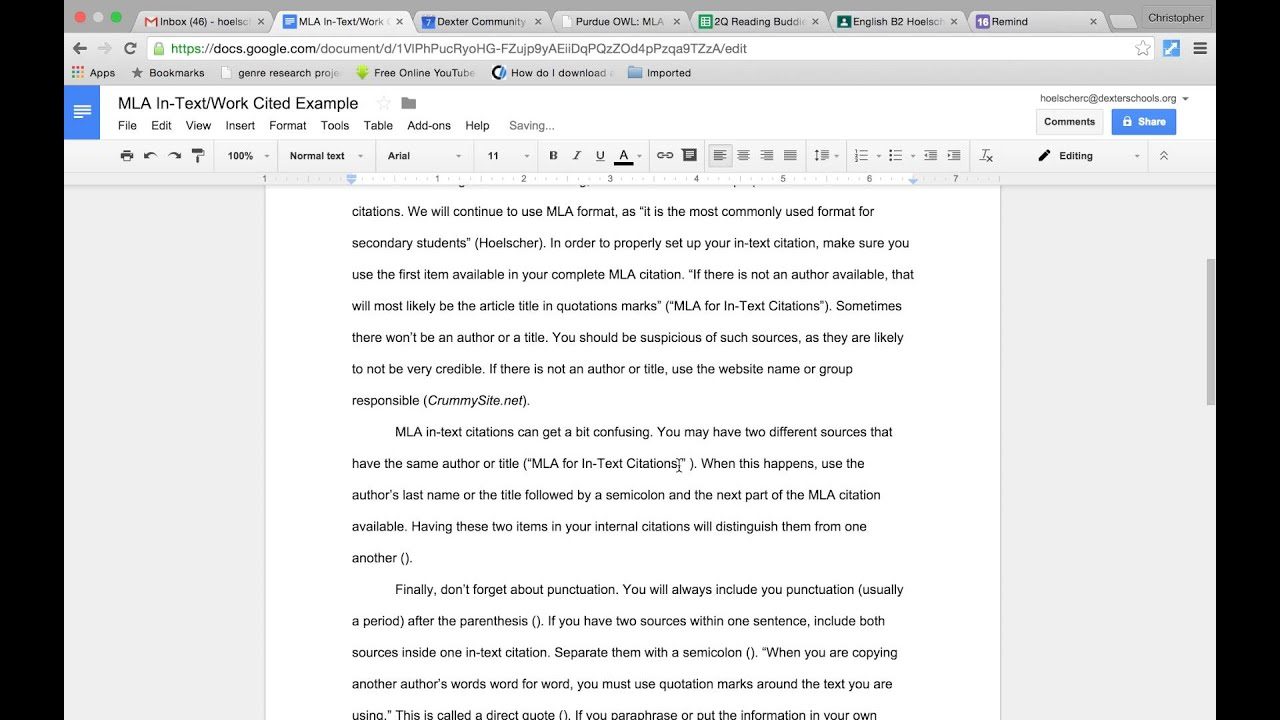 how to create a citation in mla format