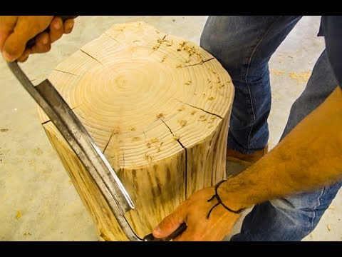 Making A Side Table From A Cypress Stump