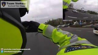 Oefenrit (spoed) verkeerstechnische begeleiding door Leiden 02-05-2016