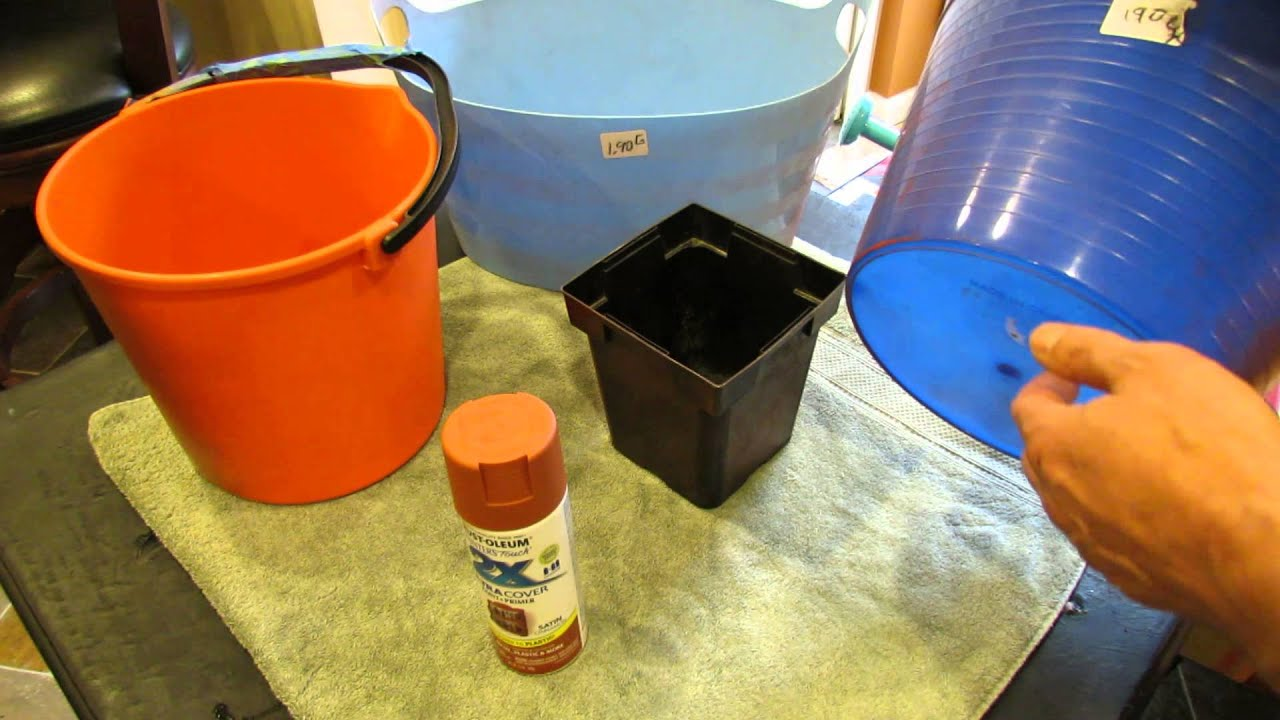 60 Seconds Or Sow: Refinish Cheap Garden Containers With Spray Paint   The  Rusted Garden 2013   YouTube