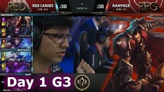 Red Canids (Brazil) vs Rampage (Japan) | Day 1 LoL MSI 2017 Play-In | RED vs RPG MSI 2017
