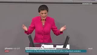 Generaldebatte im Bundestag: Rede von Sahra Wagenknecht vom 21.11.2018