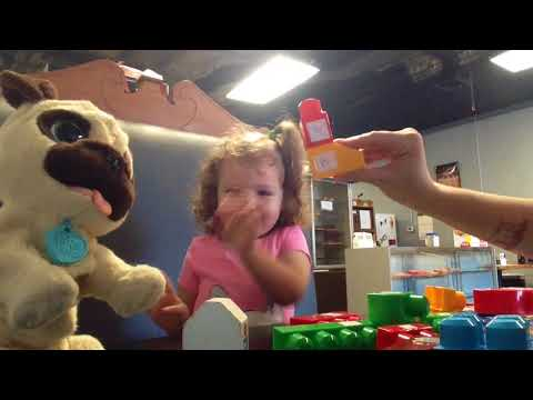 Lila's Homeschool preschool learning lowercase and capital letters with megabloks