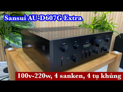 (đã Bán)Sansui AU-D607G Extra Vỏ Gỗ Long Lanh, 4 Sanken,4 Tụ Khủng,220w.LH 0834563852
