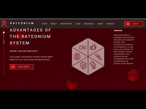 RATEONIUM - ICO REVIEW