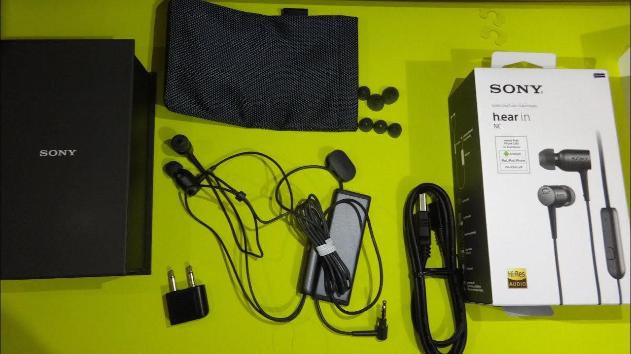unboxing sony in nc mdr ex750na in ear noise. Black Bedroom Furniture Sets. Home Design Ideas