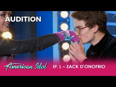 Zack: The Boy Has A Weird Obsession With SOCKS But A SHOCKING Voice! | American Idol 2018