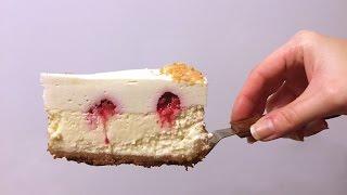 Лимонный чизкейк с муссом из белого шоколада и малиной ❤ Cooking with Love
