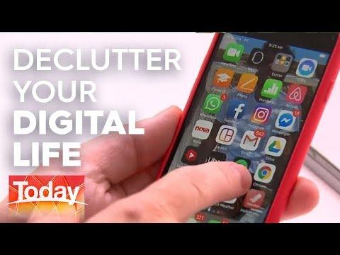 De-clutter your digital world   TODAY Show Australia