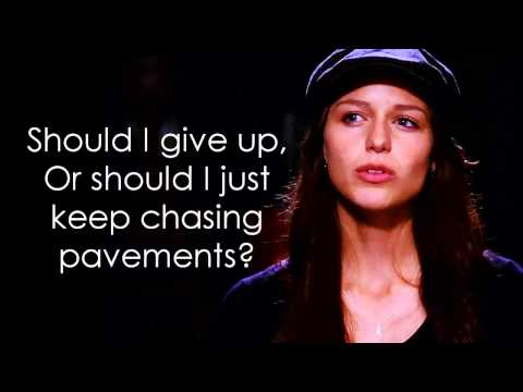 Glee - Chasing Pavements (Lyrics)