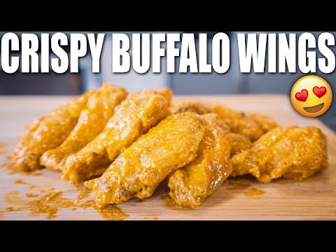 THE EASIEST CRISPY BUFFALO CHICKEN WINGS RECIPE | Healthy Low Carb Recipe