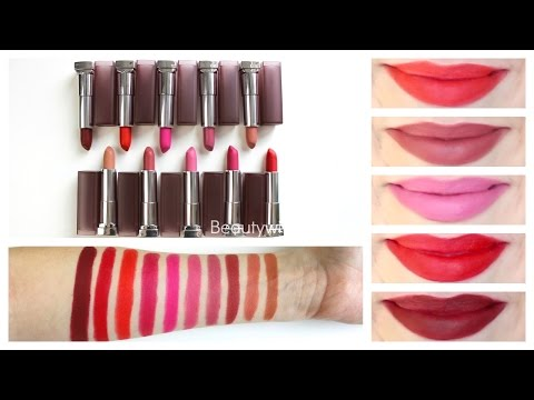 maybelline-creamy-matte-lipstick-||-review-&-lip-swatches