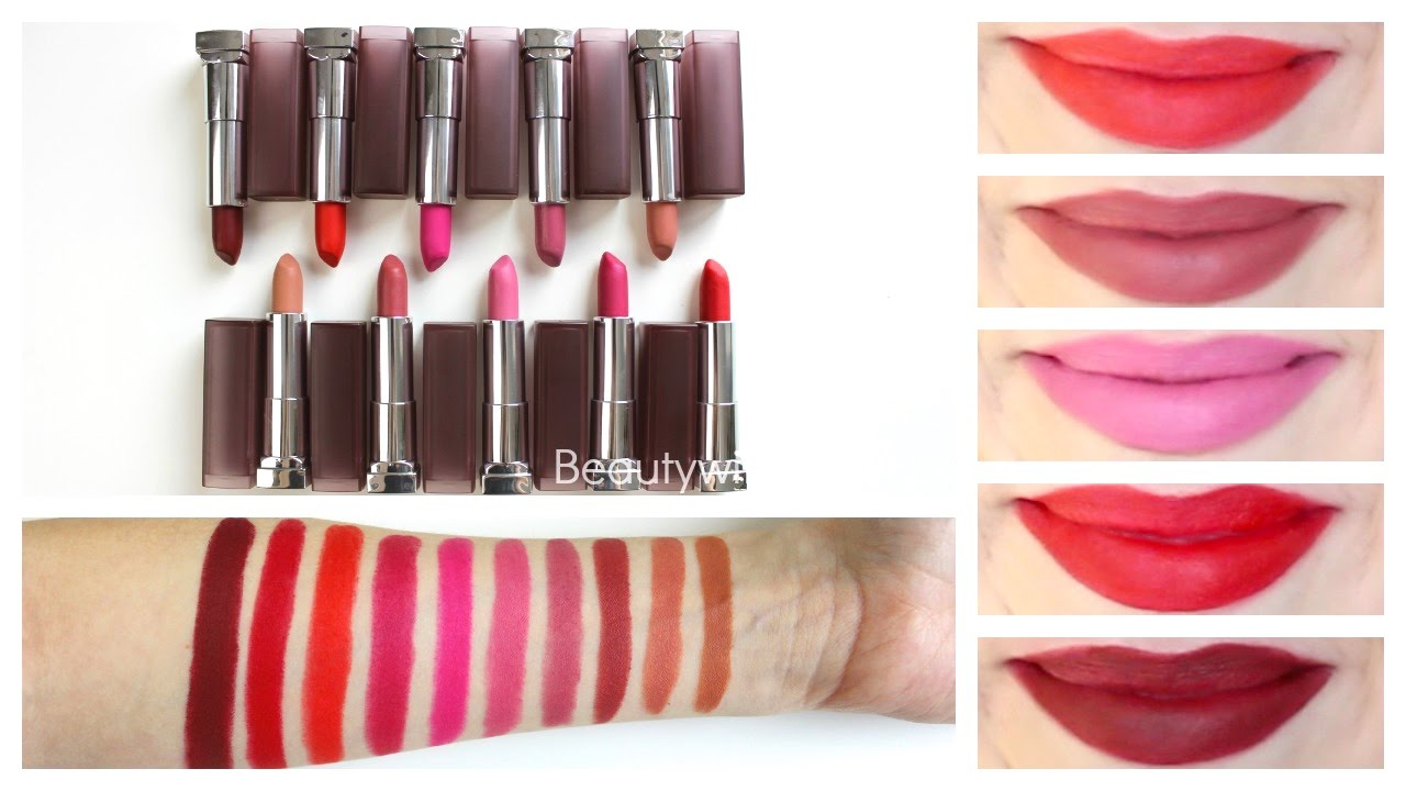 Maybelline Creamy Matte Lipstick Review Lip Swatches Youtube