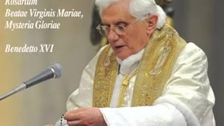 Rosario in Latino, di Benedetto XVI - Misteri Gloriosi