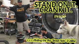 Stand on it. CRANK IT! 240lbs Riding the Indestructible Pride 15