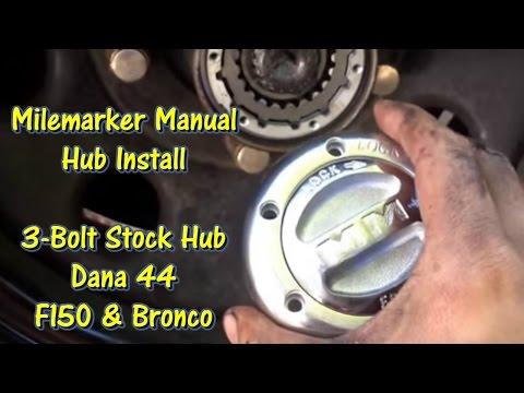 Milemarker Manual Locking Hub Install - 80 - 96 F150 & Bronco @GettinJunkDone