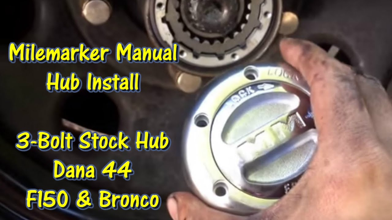 small resolution of milemarker manual locking hub install 80 96 f150 bronco gettinjunkdone youtube
