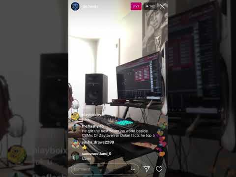 DP BEATS PLAYING BEATS AND COOKING UP ON INSTAGRAM LIVE