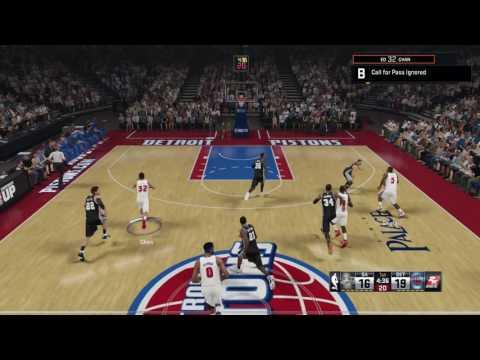 NBA 2K15 PS4 Detroit Pistons vs San Antonio Spurs Season 2020-2021