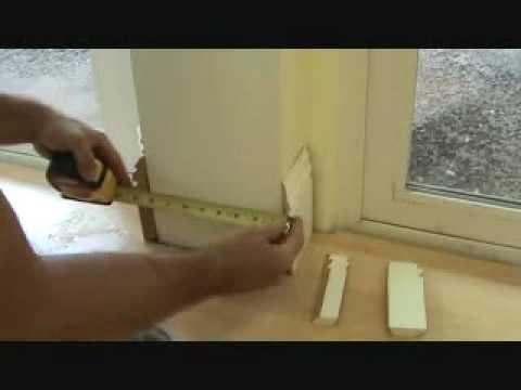 Installing Wood Baseboard To A Concrete Column Youtube
