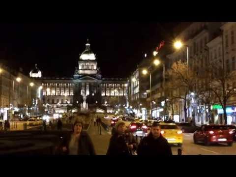 Wenceslas Square at night - Václavské náměstí v noci