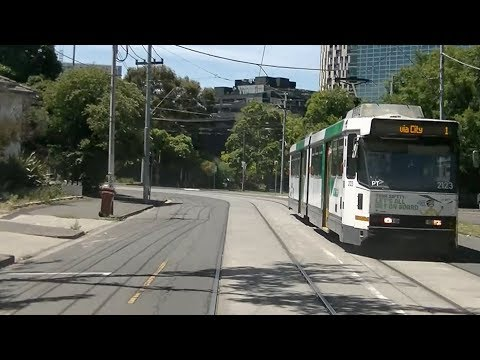 Driver's View Melbourne Tram 1 South Melbourne Beach to Latrobe St