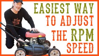 How To Adjust the RPM Speed on a Lawn Mower  Video